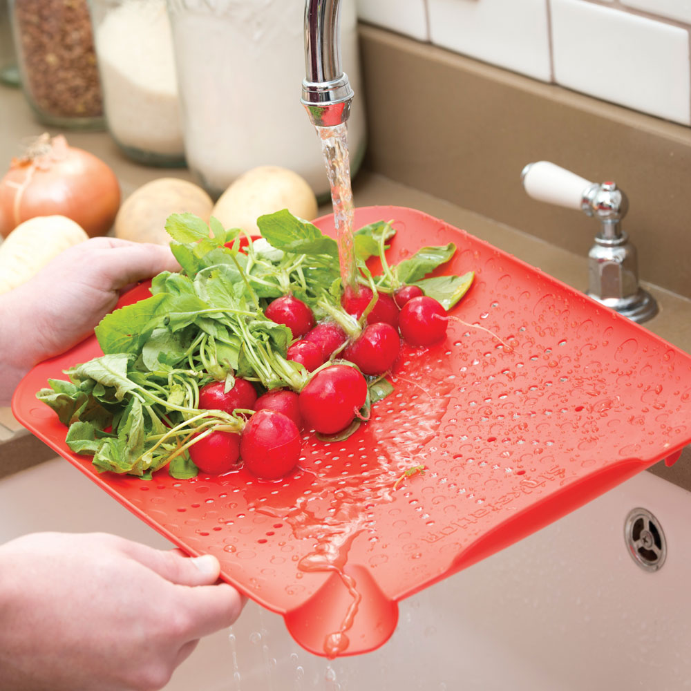sinkstation flat colander red